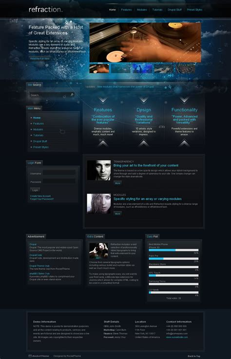 drupal theme alter refraction premium drupal theme by rockettheme