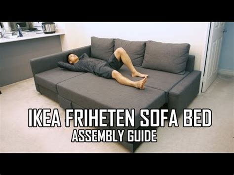 how to assemble ikea sofa bed ikea friheten sofa bed chaise longue with storage design