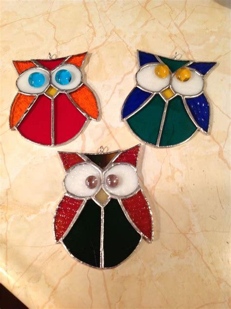 stained glass owl l de 127 bedste billeder fra glas p 229 pinterest