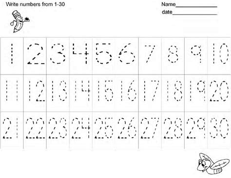 Writing Numbers 1 100 Worksheet by Free Number Writing Practice Worksheetshandwriting