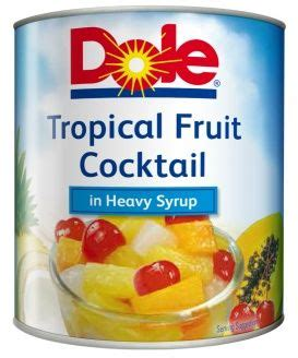 Tropical Fruit Cocktail Dole dole tropical fruit cocktail with cherry 836 g
