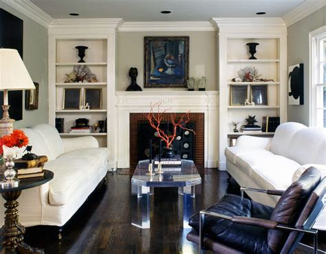 fireplace mantels and bookcases living room