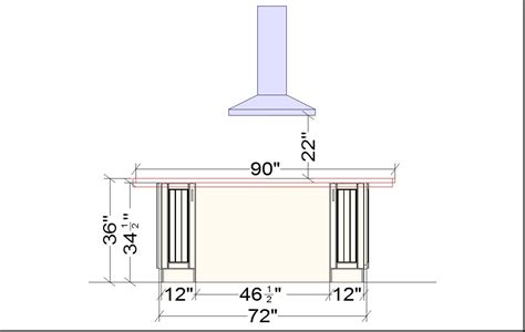typical kitchen island dimensions standard dimensions in kitchen design home