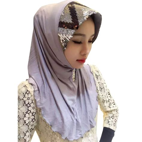 islamic muslim sequin scarf arab