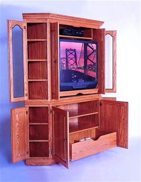 Corner Media Armoire by Amish Bellevue Corner Media Cabinet