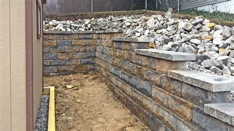 decorative retaining blocks decorative block retaining wall in nashville tn bedrock