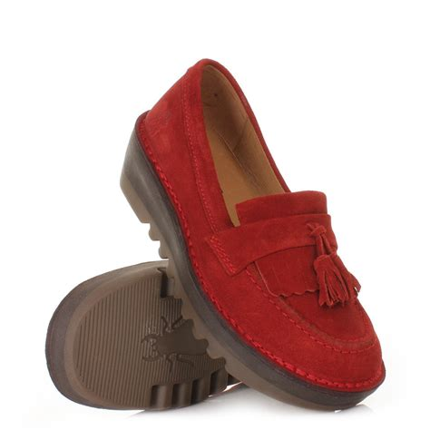 funky flat shoes womens fly juno real suede funky loafers flat