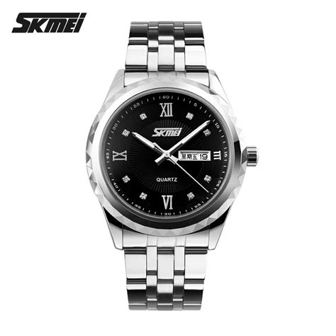 Jam Tangan Pria Skmei Formal Stainless 9100cs Murah skmei jam tangan analog pria 9100cs black jakartanotebook