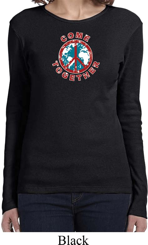 peace shirt come together sleeve t shirt