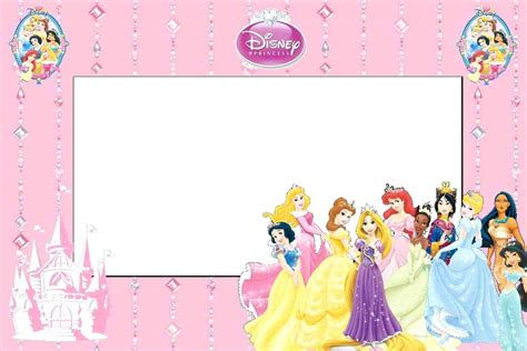 princess invites free templates disney princess invitations template