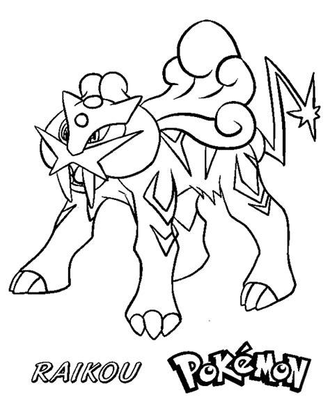 pokemon coloring pages raikou omalov 225 nky pok 233 mon raikou k vytisknut 237 online 588