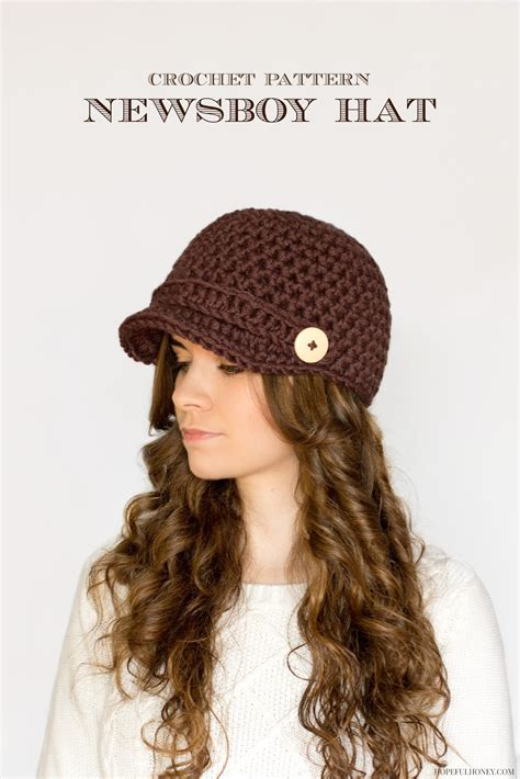 Free Pattern Newsboy Hat | 10 things i want to crochet one day