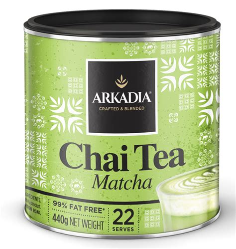 Green Tea Latte Drink Powder new arkadia matcha green tea chai latte powder 440g can ebay