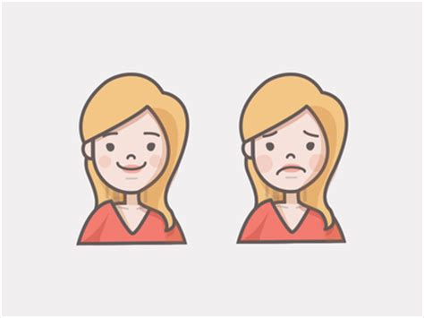 imagenes de happy and sad happy sad girl icon by stephanie lee dribbble