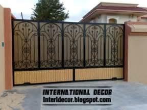 iron home modern sliding iron gate designs uk sliding iron gates