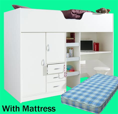 2 6 Cabin Bed by Brighton High Cabin Sleeper Bed With Mattress Rutland