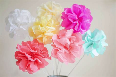How Can I Make Flowers From Paper - how to make crepe paper flowers