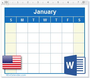 calendar   holidays ms word