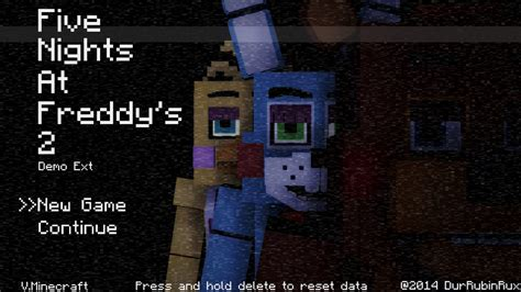 minecraft freddys nights at five five nights at freddy 2 minecraft style title scre by