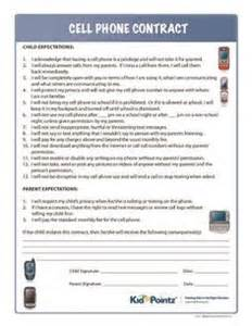 children s contract template 1000 ideas about cell phone contract on chore