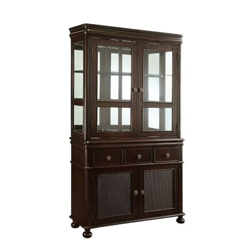 dining buffet hutch coaster harris dining buffet with hutch 104114
