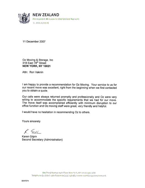Recommendation Letter New Zealand Business Recommendation Letter For A Company Letter