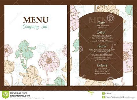 design menu vintage vector menu template design with vintage floral elements