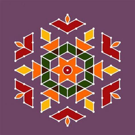 Dot Pattern Rangoli | simple dot rangoli design rangoli designs pinterest