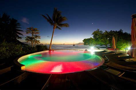 pool at night swimming pool a lagoon night view tahiti times