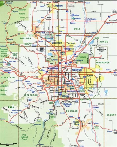 map of denver area map of denver metro area metro map