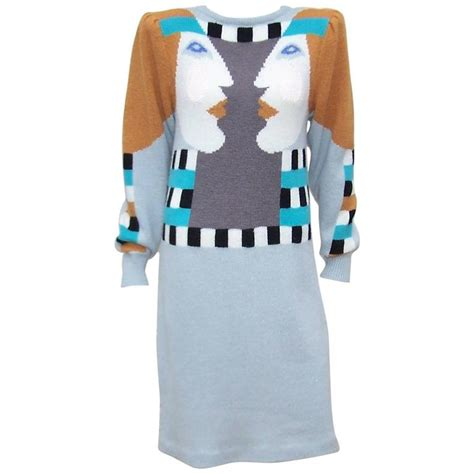 whimsical 1980 s bob mackie pop sweater dress for sale at 1stdibs