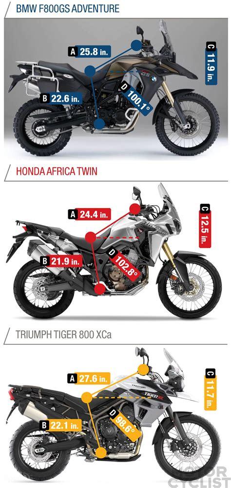 Motorrad Bmw Vs Honda by Bmw F800gs Adventure Vs Honda Africa Twin Vs Triumph