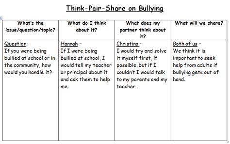 think pair template during reading strategy think pair miss madi s