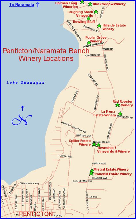 bench map map page penticton naramata bench wineries of bc s mid