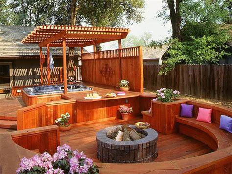 small deck ideas  hot tub home design ideas hot