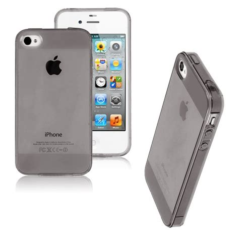 Iphone 4 4s Ume Jelly Ultra Thin Grey Soft Cover soft silicone tpu transparent back cover
