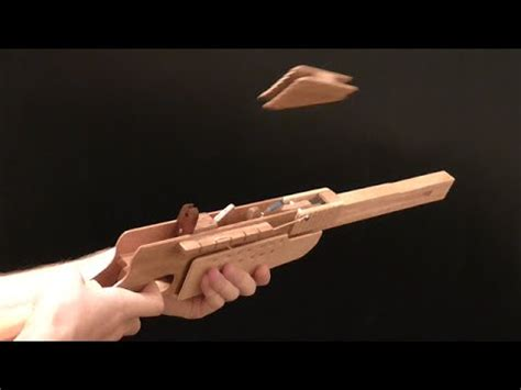 How To Make A Paper M1 Garand - loading the bolt rubber band gun musica movil