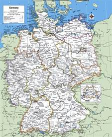 Germany Map With Cities by Geography Blog Detailed Map Of Germany