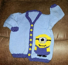 minion jumper knitting pattern ravelry minion sweater pattern by tammy mansfield