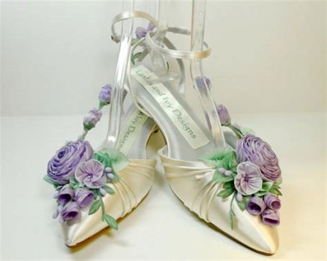 Lilac Shoes For Wedding by Lilac Lavender S Princess Kitten Heel Ribbon Flower