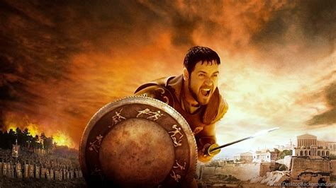 gladiator film background music russell crowe movie gladiator shield hd wallpapers