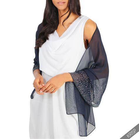 Scarf Shawl Kode B lightweight gem diamante embellished scarf stole wrap shawl summer 14653 ebay
