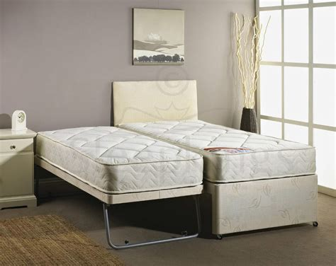 beds beds beds 3ft single guest bed 3 in 1 with mattress pullout trundle