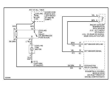 2001 cavalier cooling fan wiring diagram wiring diagram