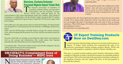 Letter Of Credit Nigeria Nigeria Trade Info Portal Export Digest Newsletter Naccima Custom Endorse Proposed Nigeria