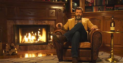 nick offerman drinking whiskey here s a 45 minute video of nick offerman quietly drinking