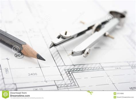 space planning tools drafting tools royalty free stock image image 27574896