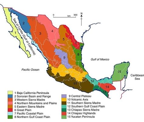 map of mexico regions mexico map regions