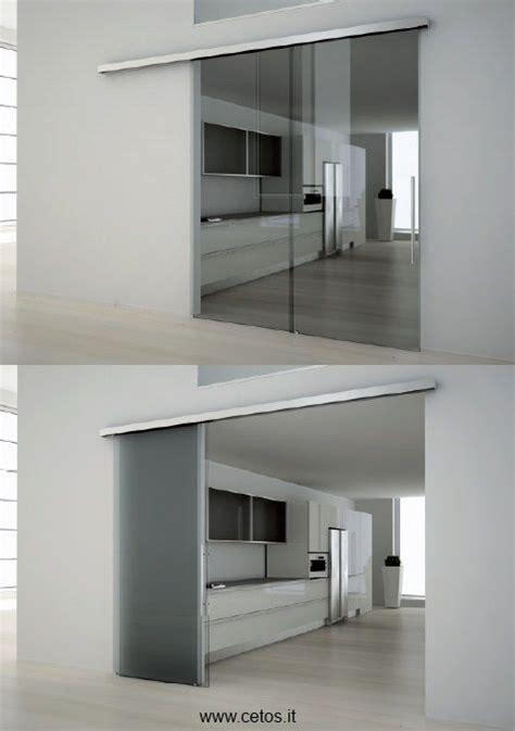 Porte De Coulissante 2067 by Porte Scorrevoli A Due Ante Tutto Vetro Door To The