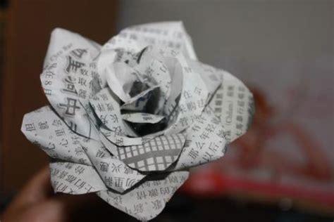 tutorial bunga dari kertas koran cara membuat bunga mawar dari koran bekas tutorial lain